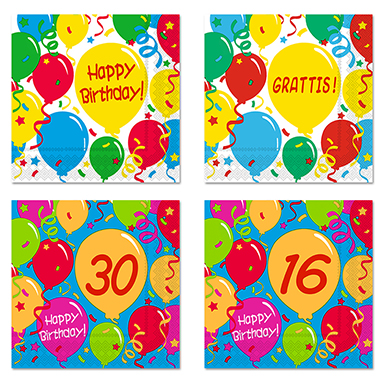 Customise Your Napkins Birthday Add the Numbers