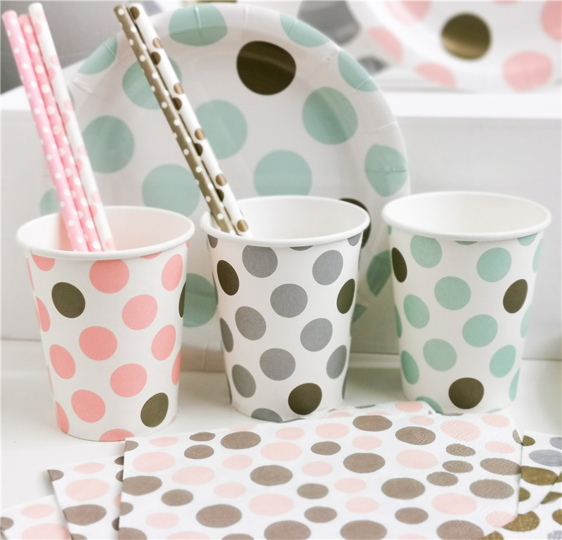 Printed Paper Cup Dots