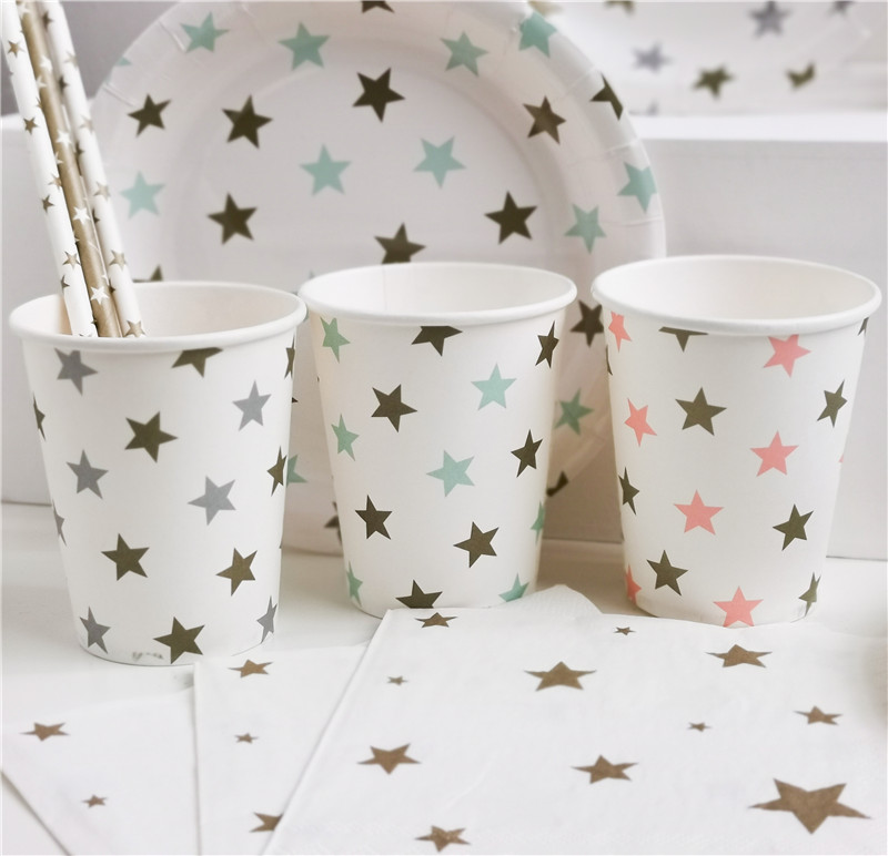Printed Paper Cup Stars