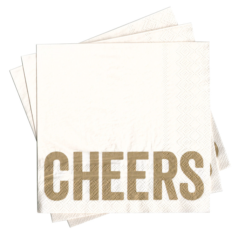 Anniversary Themed Napkin Cheers