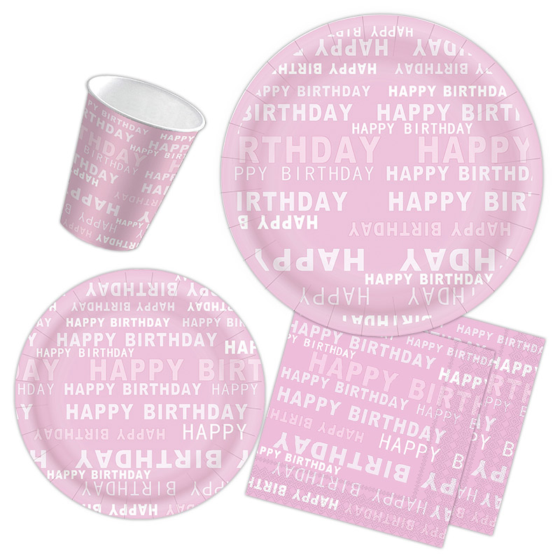 Birthday theme wording with lovely PINK
