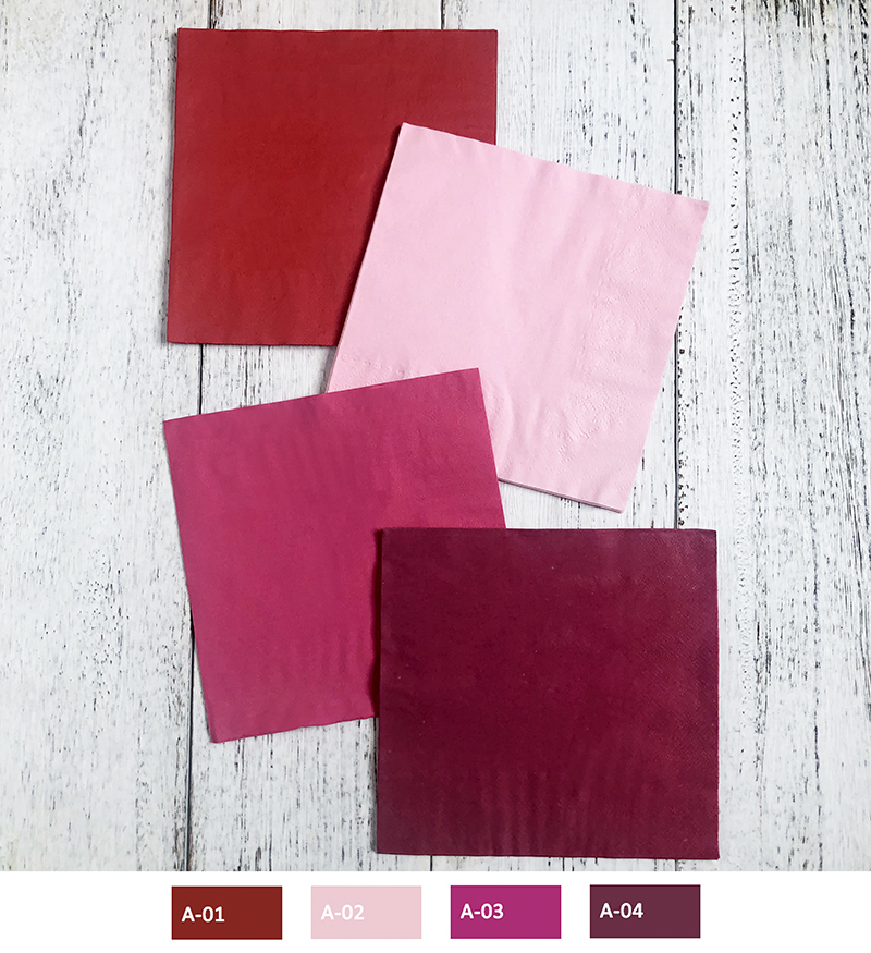 33*33cm Disposable Paper Napkins Serviettes Solid Color Paper Napkins