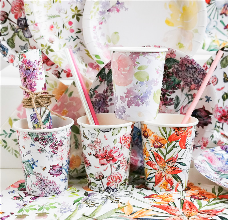 Paper Cups Flowers