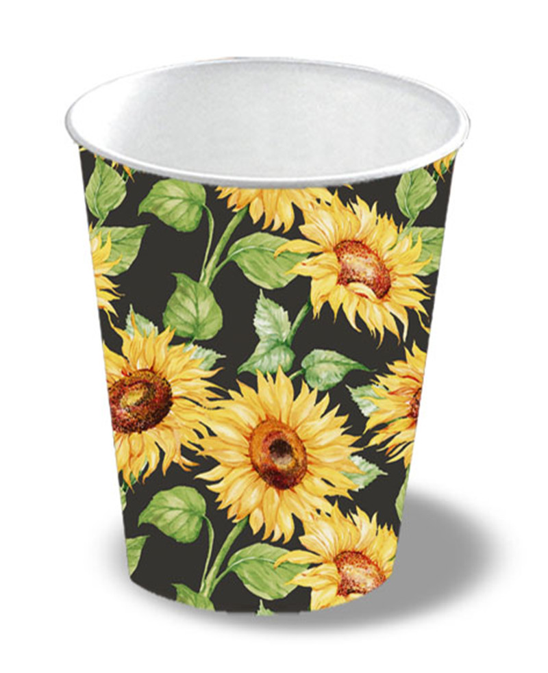 Paper Cup Sunflowers